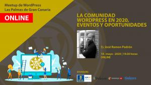Cartela Meetup José Ramón Padrón (Moncho) sobre la Comunidad de WordPress