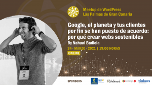 Cartela Meetup Nahuai Badiola sobre sostenibilidad