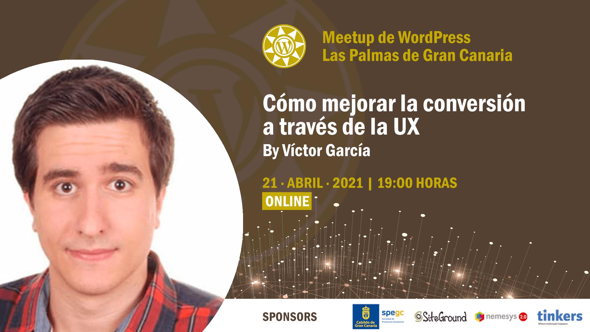 Cartela Meetup Víctor García sobre conversión