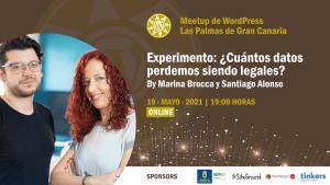 Cartela Meetup Santiago Alonso y Marina Brocca sobre legalidad y datos