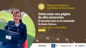Cartela Meetup Noelia Pacheco sobre copywriting