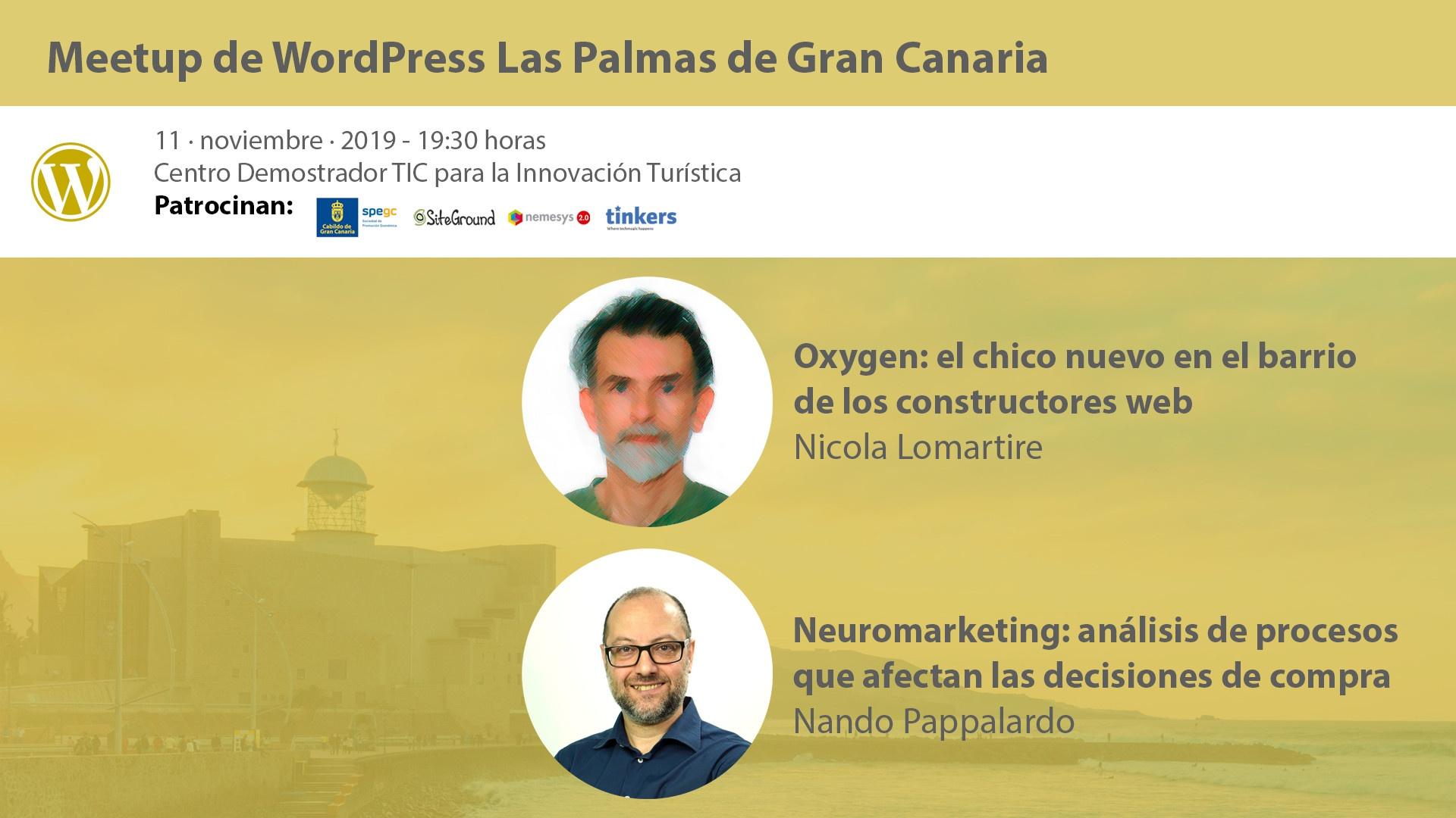 Cartela Meetup doble Nicola Lomartire y Nando Pappalardo