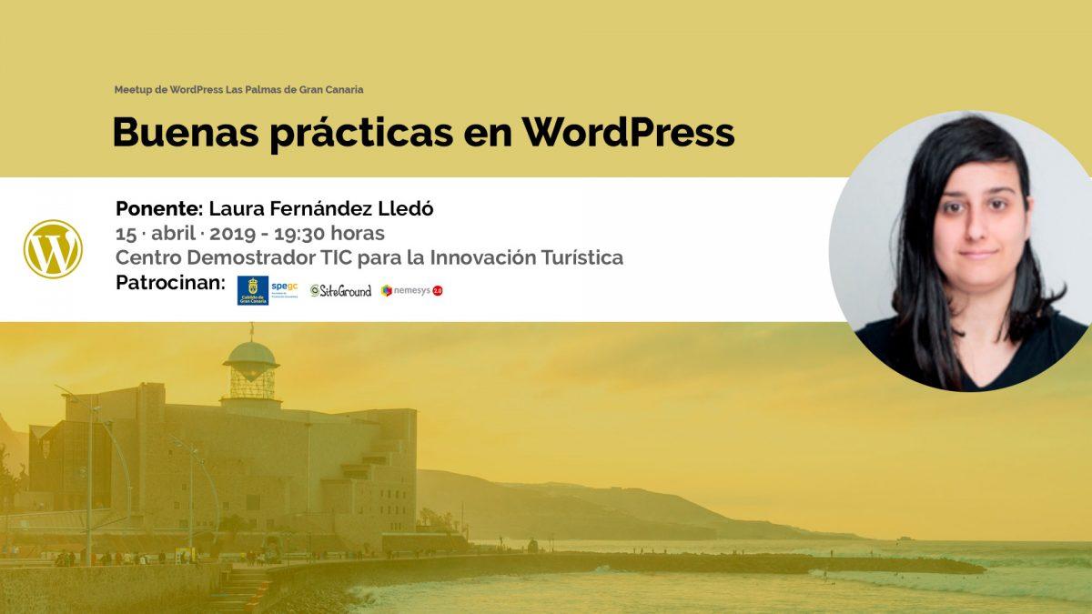 Cartela Meetup Buenas prácticas en WordPress