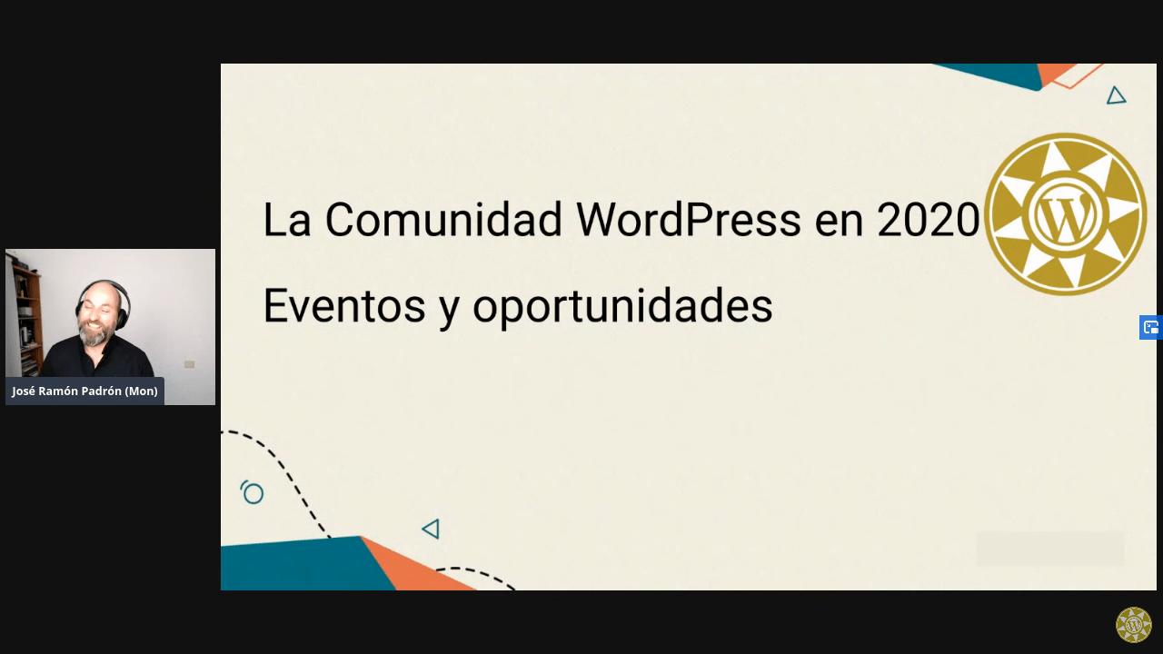 Meetup sobre la Comunidad WordPress en 2020 con José Ramón Padrón