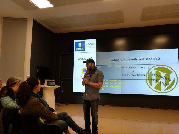 Meetup de José Ramón Padrón sobre hosting